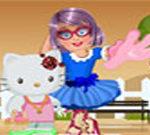 Zoe with Hello Kitty Dress Up